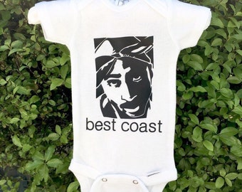 """2pac """"best coast"""" onesie"""