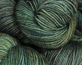 Merino wool. Fyberspates Vivacious 4ply. Deep Forest, green.