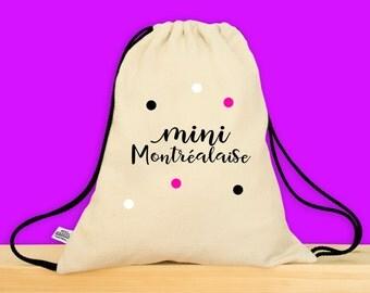 MONTRÉAL - Petit sac pour enfant - Parfait pour l'été ou pour l'école - Mini Montréalaise