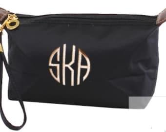 Monogram Black Coated Nylon Cosmetic Bag