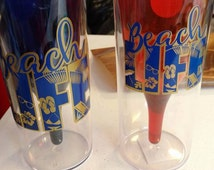 Aladdin double walled Wine glass 9 oz Beach Life