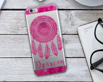 Dream Catcher iPhone Case - Dream On iPhone Case - Dream Catcher - Dream On - Hot Pink iPhone Case - Hot Pink Case - Pink Dream Catcher