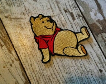READY TO SHIP!!! Winnie The Pooh Inspired Embroidered Iron On Patch!