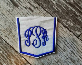 Custom Pocket Monogram and Color Iron On Patch!