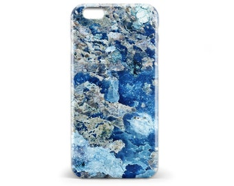 1419 // Blue Geode Case iPhone 5 5S, iPhone 6 6S, Samsung Galaxy S5, Samsung Galaxy S6, Samsung Galaxy S7 Edge Plus
