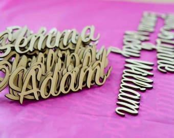 Personalised Place Name lasered Plywood Wedding