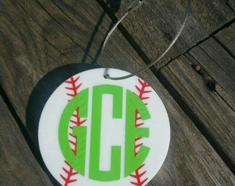 """3"""" Baseball Bag Tag"""