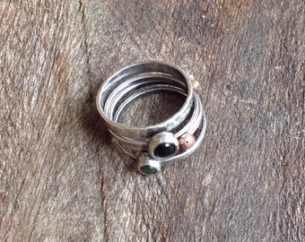 Stackable rings in silver