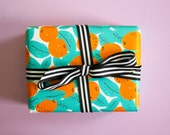 Oranges Gift Wrap, Single Sheet