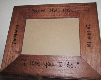 Custom Handwriting Frame, Laser Engraved 5x7 Frame, Anniversary Gift, Personalized Frame, Your Handwriting Engraved, Memorial Gift