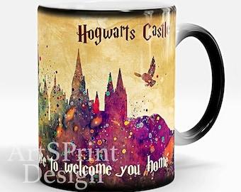 Harry Potter Mug Hogwarts Castle Color Changing Mug Harry Potter Quote White Photo Mug Magical Mug Harry Potter Cup Birthday Christmas Gift