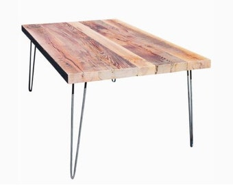 Rustic hairpin table