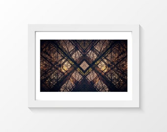 """From trees to abstract / Tree reflection black photo printable art wall art home decor downloadable art to print yourself / A3 and 11"""" x 17"""""""