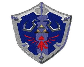 Link (Zelda) Shield Embroidery Pattern