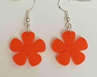 Flower Earrings 5 petals - Acrylic