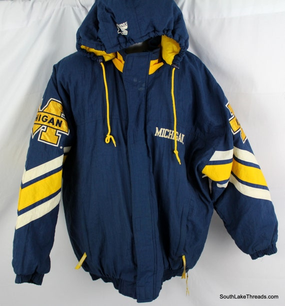 University Of Michigan Wolverines Starter Winter Jacket Adult