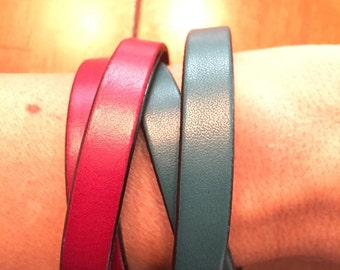 Leather wraps with magnetic closures