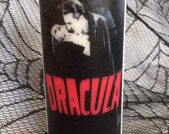 Bela Lugosi Dracula White Pillar Candle