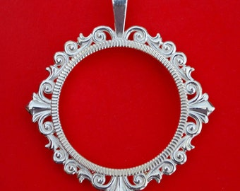 Solid 925 Sterling Silver Coin Bezel Mount Frame Settings to Fit 25mm ~ 25.3mm Diameter Coins