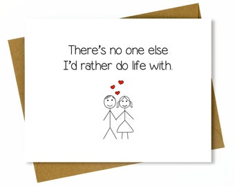 Husband Anniversary Card / Cute Anniversary Card for Boyfriend / Birthday Card - Do Life With