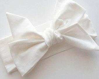 Head wrap {Snow} baby bows, head wraps, women's head wrap
