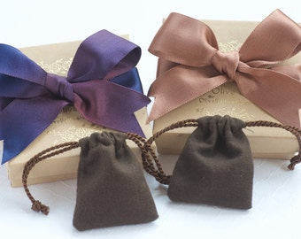 Luxurious Gift Wrap with Satin Bow and Anti Tarnish Pouch