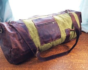 Leather Duffel, Canvas Duffel, Waxed Canvas Duffel,Leather Rucksack, Canvas Rucksack, Waxed Canvas Rucksack, Leather Weekend Bag, Canvas Bag