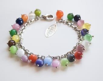 Hand crafted designer natural stone bracelet