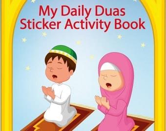 My daily duas sticker activity book Islamic kids book muslim kids book childrens muslim book  dua book wholesale muslim books