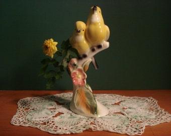 California Carolers Bird Bud Vase