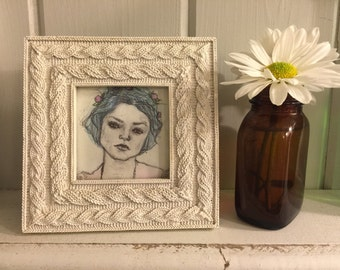 Super cute watercolor painting with frame