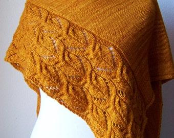 """Knitting Pattern """"The Sunflowers Shawl"""""""