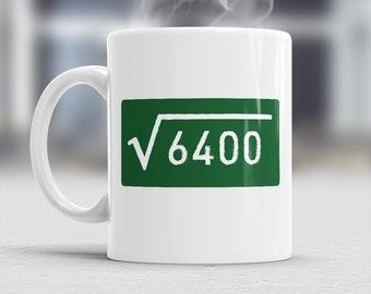 80th Birthday, 80th Birthday Gift, 80th Birthday Idea, Square Root 6400, Happy Birthday, 80th Birthday Present, 80 year old