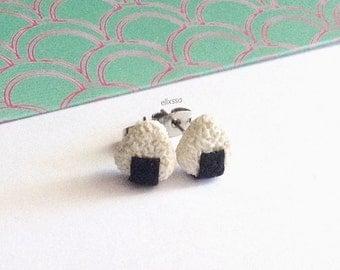 Miniature Onigiri Earrings/Sushi Earrings