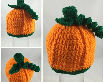 Pumpkin Hat - crochet infant/toddler/youth/adult
