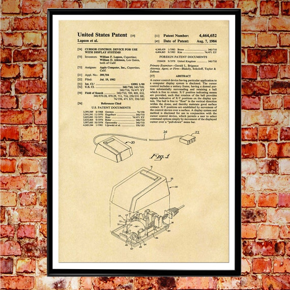 Computer mouse patent print mouse blueprint art wb004 like this item malvernweather Choice Image