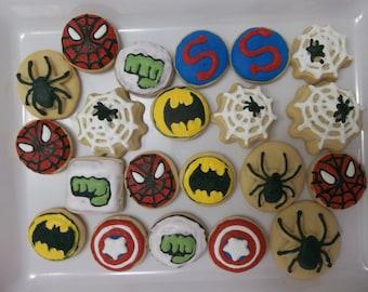 Superhero Cookie Bite, Superhero, 2 Dozen