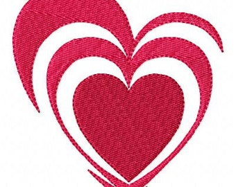 Broken Hearts Machine Embroidery Design