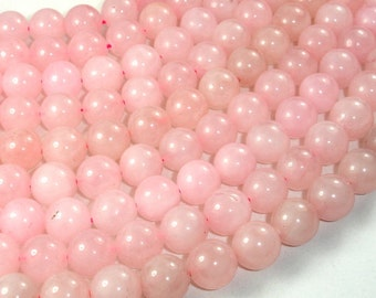 Rose Quartz Beads, Round, 10mm, 15 Inch, Full strand, Approx 32 beads, Hole 1 mm