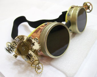 steampunk goggles/steampunk clothing.