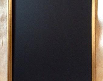 Vintage gold-red framed chalkboard