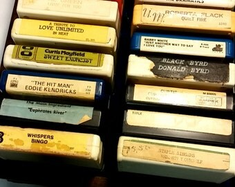 Awesome 8-Track Tape Case with Assortment of USA Tapes
