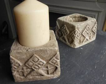 TRURO CANDLE BLOCK  a pair