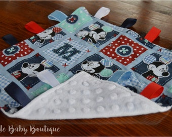 Micky Mouse Security/Taggie Blanket