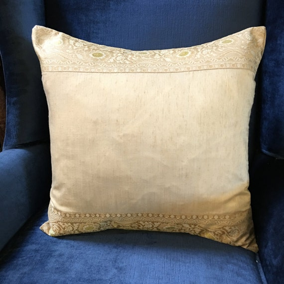 Decorative Pillow Trim : Creme Art Silk Pillow with Trim decorative pillow by TaraDesignLA