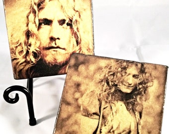 Vintage Robert Plant Coaster Set ( includes 4 tiles )