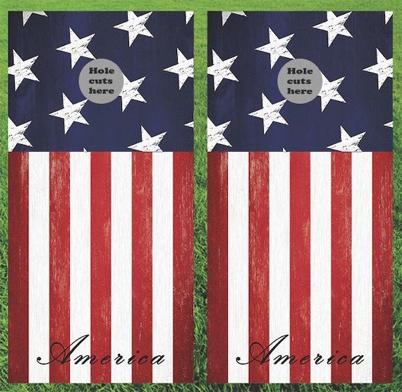 American Flag Corn Hole Boards Bean Bag By Doublediamondboards