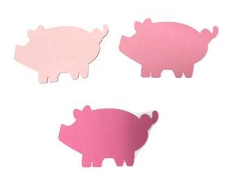 25 Pig Tags, Die Cut Pig, Farm Theme Baby Shower, Farm Theme Birthday Party, Farm Party, Farm Decor, DIY, Cow Theme Party, Cow Birthday