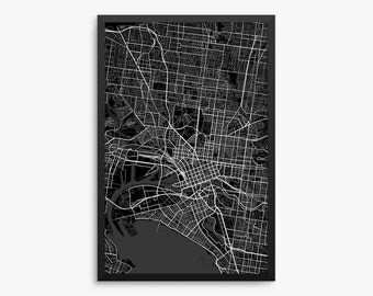 Melbourne map Etsy