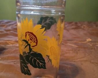 Anchor Hocking Sunflower Glass Vintage